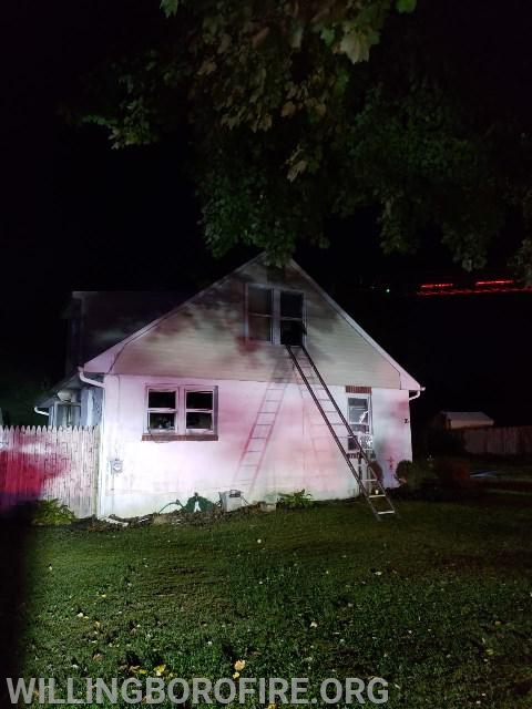 Firefighters removed several windows to ensure all of the heat and smoke were removed from the home